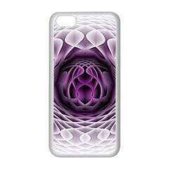 Swirling Dreams, Purple Apple iPhone 5C Seamless Case (White)