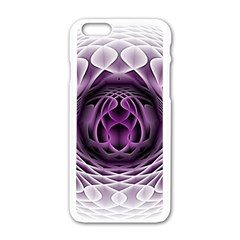 Swirling Dreams, Purple Apple Iphone 6/6s White Enamel Case