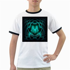 Swirling Dreams, Teal Ringer T-Shirts