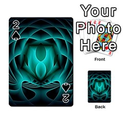 Swirling Dreams, Teal Playing Cards 54 Designs