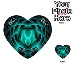 Swirling Dreams, Teal Playing Cards 54 (Heart)