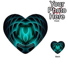 Swirling Dreams, Teal Multi-purpose Cards (Heart)