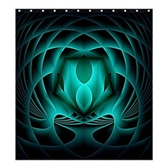 Swirling Dreams, Teal Shower Curtain 66  X 72  (large)