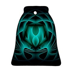 Swirling Dreams, Teal Bell Ornament (2 Sides)