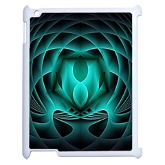 Swirling Dreams, Teal Apple iPad 2 Case (White)