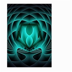Swirling Dreams, Teal Large Garden Flag (two Sides)