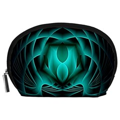 Swirling Dreams, Teal Accessory Pouches (large)