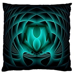Swirling Dreams, Teal Large Flano Cushion Cases (two Sides)