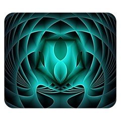 Swirling Dreams, Teal Double Sided Flano Blanket (small)