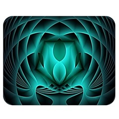 Swirling Dreams, Teal Double Sided Flano Blanket (medium)