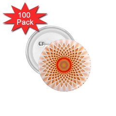 Swirling Dreams,peach 1.75  Buttons (100 pack)