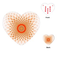 Swirling Dreams,peach Playing Cards (Heart)
