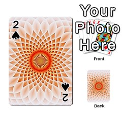 Swirling Dreams,peach Playing Cards 54 Designs