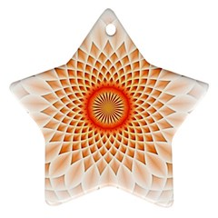 Swirling Dreams,peach Star Ornament (Two Sides)