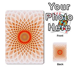 Swirling Dreams,peach Multi Purpose Cards (rectangle)
