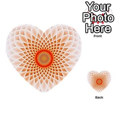 Swirling Dreams,peach Multi-purpose Cards (Heart)