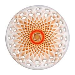 Swirling Dreams,peach Ornament (Round Filigree)