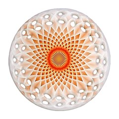 Swirling Dreams,peach Round Filigree Ornament (2Side)