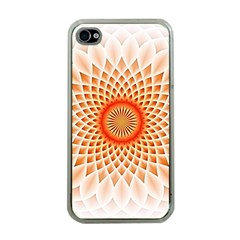 Swirling Dreams,peach Apple iPhone 4 Case (Clear)