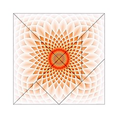 Swirling Dreams,peach Acrylic Tangram Puzzle (6  X 6 )