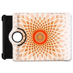 Swirling Dreams,peach Kindle Fire HD Flip 360 Case