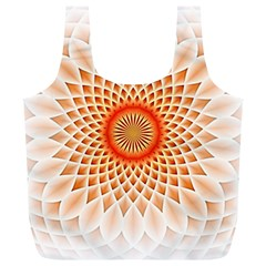 Swirling Dreams,peach Full Print Recycle Bags (L)