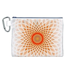 Swirling Dreams,peach Canvas Cosmetic Bag (L)