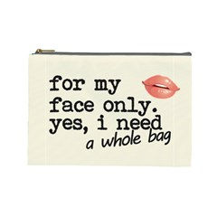 Face Only Cosmetic Bag (large)