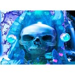 Skull Worship I Love You 3D Greeting Card (7x5)  Back