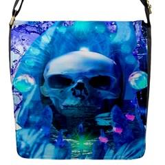 Skull Worship Flap Messenger Bag (S)