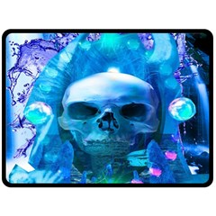 Skull Worship Double Sided Fleece Blanket (Large)