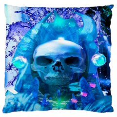 Skull Worship Large Flano Cushion Cases (two Sides)