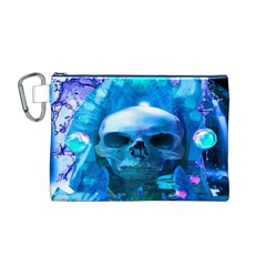 Skull Worship Canvas Cosmetic Bag (M)