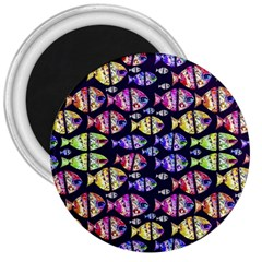 Colorful Fishes Pattern Design 3  Magnets