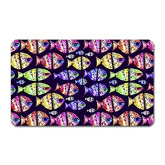 Colorful Fishes Pattern Design Magnet (Rectangular)