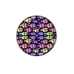 Colorful Fishes Pattern Design Hat Clip Ball Marker (4 pack)