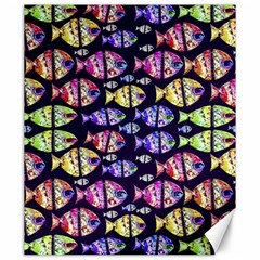 Colorful Fishes Pattern Design Canvas 20  x 24
