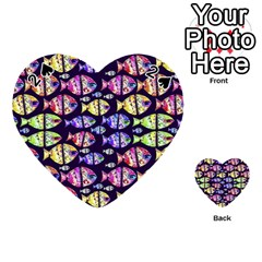 Colorful Fishes Pattern Design Playing Cards 54 (Heart)