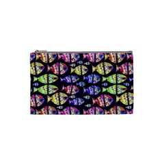 Colorful Fishes Pattern Design Cosmetic Bag (Small)
