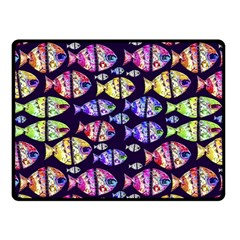 Colorful Fishes Pattern Design Fleece Blanket (small)