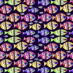 Colorful Fishes Pattern Design Magic Photo Cubes