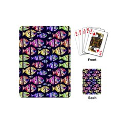 Colorful Fishes Pattern Design Playing Cards (Mini)