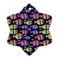 Colorful Fishes Pattern Design Ornament (Snowflake)