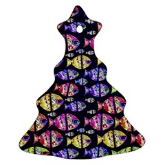 Colorful Fishes Pattern Design Ornament (christmas Tree)