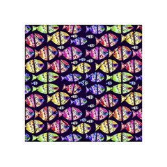 Colorful Fishes Pattern Design Acrylic Tangram Puzzle (4  X 4 )