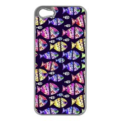 Colorful Fishes Pattern Design Apple iPhone 5 Case (Silver)