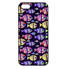 Colorful Fishes Pattern Design Apple iPhone 5 Seamless Case (Black)