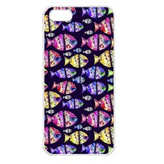 Colorful Fishes Pattern Design Apple iPhone 5 Seamless Case (White)