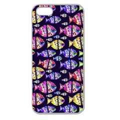 Colorful Fishes Pattern Design Apple Seamless iPhone 5 Case (Clear)