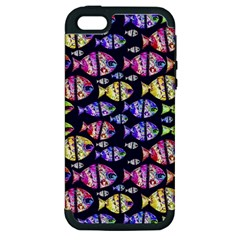 Colorful Fishes Pattern Design Apple iPhone 5 Hardshell Case (PC+Silicone)